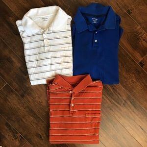 Men's short sleeve polo shirts bundle